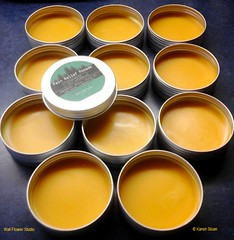 Pain Relief Pomade - Handmade apothecary - Wall Flower Studio (Karen @ Wall Flower Studio) Tags: ontario canada herbs handmade spices organic arthritis minden painrelief balm salve pomade beeswax smallbatch muscleaches herbalremedy coconutoil wallflowerstudio