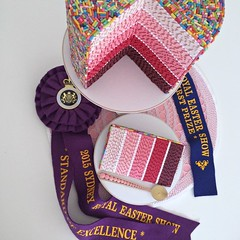 Quilled Cake Slice (all things paper) Tags: cake spirals ombre awards quilling quilled rolledpaper royalsydneyeastershow quilledcake