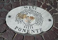 Compass card at Saint Peter Square in Vatican City / Rome (Carlo Raso) Tags: rome inscription vaticancity compasscard rosadeiventi