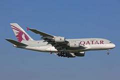 A7-APE Airbus A380-861 Qatar Airways Heathrow 02nd October 2015 (michael_hibbins) Tags: