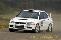 Harold Palin Memorial Rally - Fulbeck 2015 (ladythorpe2) Tags: england club october memorial district rally 4th 9 harold lincolnshire barber gary motor 51 nigel mitsubishi evo airfield eastwood palin hirst rallying grantham 2015 fulbeck escortsubarumitsubishirally