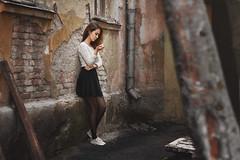 Marina (ivankopchenov) Tags: light portrait people girl sadness natural outdoor cigarette sorrow