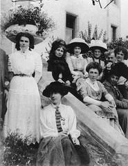 Emmeline Pankhurst and supporters at Elgin, c.1907.
