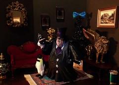 Penguin's Christmas (MaxxieJames) Tags: christmas city toy toys penguin dc action ooak figure batman custom gotham villain asylum chesterfield oswald arkham cobblepot