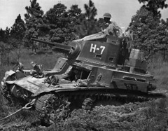American M2A4 light tank during one of the pre-war teachings.