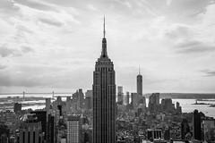 Empire State Building B&W (Marek Lubas) Tags: nyc newyork manhattan empirestatebuilding gebuilding thetopoftherock newyorkphotography nycphotography