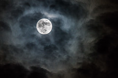 Nearly Full Moon with Clouds (Old Boone) Tags: moon nikon fullmoon 300mm d750 fullframe fx gibbous teleconverter waxinggibbous lightroom 2015 tc14e jamesboone oldboone nikond750 nikkortc14eafsteleconverter 300mmf4edpfafs nikkor300mmf4edpfafs