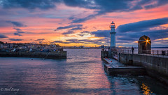Newhaven Lighthouse (Paul S Ewing) Tags: blue sunset orange lighthouse canon edinburgh calm forth newhaven firth