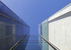 Into the blue (mennomenno.) Tags: building lines architecture reflections thenetherlands bluesky architectuur lijnen gebouwen rotterdamzuid reflecties blauwelucht