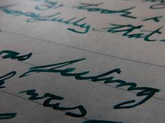 TWSBI Diamond 580 1.1mm and De Atramentis Petrol on Rhodia 90gsm Vellum (Webnotebook) (satyaknits) Tags: fountain pen ink handwriting de bottles diamond petrol cursive vellum rhodia 580 webnotebook atramentis twsbi 90gsm