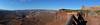 San Juan - Green Overlook Panorama (Drriss & Marrionn) Tags: travel roadtrip landscape utah usa sanjuan outdoor sky blueskies rock skies mountain mountains canyon canyons nature mountainside canyonlandsnationalpark moab rockformation red crag cliff cliffs light naturallight stone horizon natural mothernature outlook view panorama