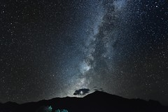 A Spiral Arm of the Milky Way Rising Above Ward Mountain (Big Bend National Park)