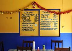 Comedor Bochil Chiapas Mexico (Ilhuicamina) Tags: restaurants mexico menu food comida chiapas bochil tacos