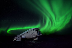 Star Wars (FredConcha) Tags: dc3 iceland northernlights aurora night stars airplane abandonado nikon d800 1424 crashed starwars fredconcha landscape fineart