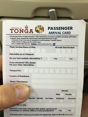 While travelling around the world, you get used to fill out arrival and departure cards!