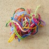 Four ply worsted weight yarn split in half and ready to use for embroidery (crochetbug13) Tags: crochet crocheted crocheting crazyquilt crazyquiltcrochet crochetafghan crochetblanket crochetembroidery