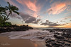 ~Secret Beach~ (garretrays) Tags: ocean outdoor sunset beach maui hawaii shore water landscape cloud clouds tropical sky rocks palm tree