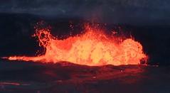 Lava Lake (rocksandstones) Tags: lava lake spattering red orange fire eruption volcano kilauea halemaumau