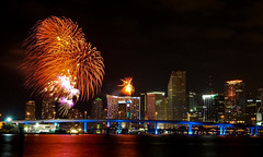 The Fireworks of 2017 (The Sergeant AGS (A city guy)) Tags: downtownmiami fireworks happy2017 walking waterways lights newyear exploration neighborhood nightphotography city cityscapes colors