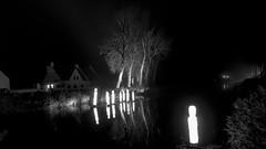 Damme, by night (mayaplus) Tags: blackwhite belgium damme night canal illuminations