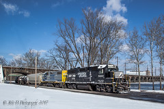 CSAO YPMOR-1 @ Morrisville, PA (Darryl Rule's Photography) Tags: buckscounty cpdq csao csx csxt delmoorave diesel diesels emd freight freighttrain geep january local mixedfreight morrisville ns norfolksouthern ols operationlifesaver pa pennsylvania pennsylvaniaave railroad railroads snow staley streetrunning sun tankcar tankcars train trains winter yn2 ypmor1