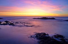 La pointe du Cap Béart (sergecos) Tags: leverdesoleil sunrise poselongue longexposure mer sea mar rocher rock waterscape aube aurore dawn nikon d7000 outdoor landscape sky cielo cloud nubes