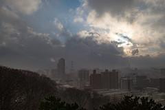 Cityscape (Dominic Sagar) Tags: fujifilm japan t050 t100 t200 xt1 castle city snow weather akitashi akitaken jp
