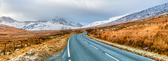 Winding road (Lee~Harris) Tags: road roadtrip mountain mountains snow driving transport wales landscape serene scenic scene rugged uk love beautiful snowcappedmountains snowcapped light day outdoor