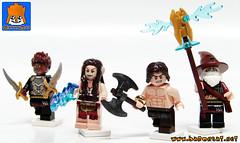 CONAN'S GANG (baronsat) Tags: lego elf elves wizard witch sorceress custom minifigs castle conan heroic fantasy sword sorcery