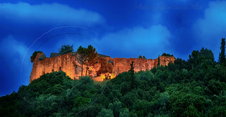 Ali pasha's castle at dusk Parga