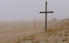 Beach Cross (Dalliance with Light (Andy Farmer)) Tags: jersey beach ocean oceangrove cross nj mist sky fog sand water landscape shore neptunetownship newjersey unitedstates us