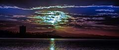 Cloudy Sun--in explore (beachpeepsrus) Tags: shore sky sunrise clouds color california longbeachcalifornia longbeachgranprix light
