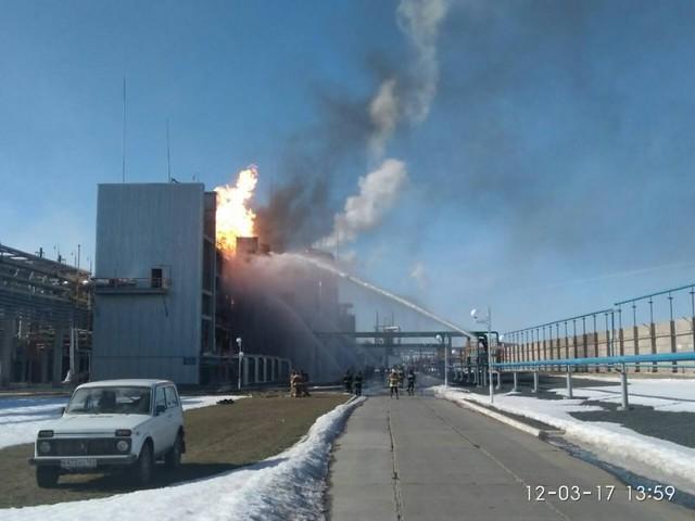 МЧС: пожар назаводе вТольятти на100% ликвидирован, никто непострадал