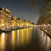 Amsterdam at Night (Peter Weckesser) Tags: reflections canal nightscene amsterdam nightlightswater netherlands