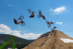 Time to get ready for summer! (Ipivorje) Tags: bike freeride backflip jump air winterpark freeridefestival mountains competition sports bicycle colorado stunt