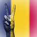 Peace Symbol with National Flag of Chad