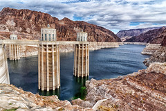 Hoover dam (marko.erman) Tags: hooverdam nevada arizona colorado river usa mead lake water surface electric powerplant construction engineering blackcanyon landscape spectacular outside travel popular sony wideangle sun sunny vivid colors impressive