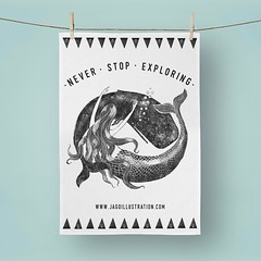 Photo of Mermaid & Whale - New tea towels are coming! Two new designs plus more stock of last years are all now available for preorder on the shop. Currently hoping to ship them by 4th April #mermaid #whale #neverstopexploring