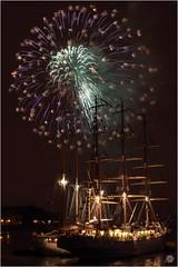 Tall Ships Fireworks 06 (Bill-Green) Tags: festival night fireworks greenwich tallships thethames darmlodziezy billgreen glaisherstreet santamariamanuela newcapitalquay
