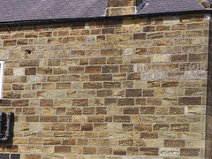 Boot and shoe warehouse, Hinderwell (Nekoglyph) Tags: stone wall boot shoe yorkshire warehouse ghostsign hinderwell