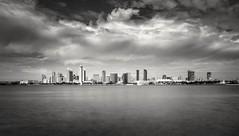 Downtown San Diego (quicklyslowly) Tags: longexposure blackandwhite bw tripod coronado sandiegoskyline 1018mm sonya7