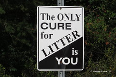 The Only Cure For Litter Is You (Gerald (Wayne) Prout) Tags: ontario canada canon cartier litter signage canadianpacific cp cpr cure northernontario prout railwaytown canonpowershotsx50hs geraldwayneprout