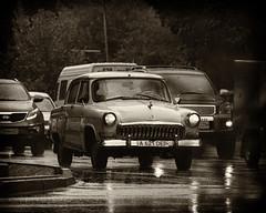 lost in time (monorail_kz) Tags: autumn rain traffic september oldtimer crossroad kazakhstan volga almaty jupiter37a gaz21