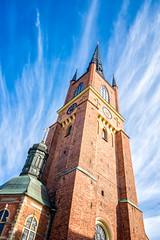 La flèche/The steeple/Riddarholmenskyrkan [Explore] (Elf-8) Tags: church sweden stockholm steeple gamlastan riddarholmen