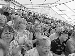 Red Hot Chilli Pipers - crowd (pefkosmad) Tags: city uk england music rock marquee drums scotland concert kilt guitar percussion centre gig band free scottish gloucestershire entertainment gloucester leadguitar celtic bagpipes keyboards bassguitar pipers celticrock rugbyworldcup kingssquare sporran standingroomonly rwc redhotchillipipers bagrock