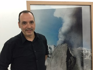 Andres Michelena of KaBe Gallery during Wynwood Gallery walk