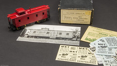 MKT Wood Sheathed Caboose (Engine Shed) Tags: railroad scale model models railway trains hobby caboose ho brass hallmark piszczek