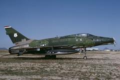 56-3110.DMA1982copy (MarkP51) Tags: plane airplane image aircraft military kodachrome usaf boneyard dma northamerican davismonthanafb f100d supersabre aviationphotography 563110 markp51