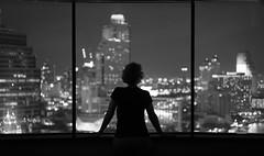 The view! (frank.gronau) Tags: skyline frank gronau sony alpha 7 schwarz weis black white frau fenster windows ausblick weitblick bangkok hilton