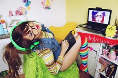 IMG_9614 (krizkolovesyou) Tags: cute colors fashion socks digital canon computer asian rainbow sock colorful asians technology drawing expression laptop bamboo gaming thigh colored canonrebel pinay knee c4c tablet comment asiangirl highs asiangirls razer canonn canon600 canonti canon600d canont3i